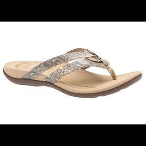 Abeo Brenda sandals flip flops snake print
